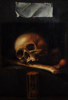Vanitas, c. century ~ Attributed to Pieter-Symonsz Potter… Momento Mori Tattoo, Memento Mori Art, Vanitas Paintings, Vanitas Vanitatum, Dance Of Death, Art Ancien, Crane, Danse Macabre, Motorcycle Art