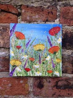 """ARTFINDER: """"Meadow Abundance"""" by Lucy Moore - """"Meadow Abundance""""  I love painting landscapes, using my techniques to put movement into the painting and bringing it to life.  Acrylic on Canvas Board T..."""