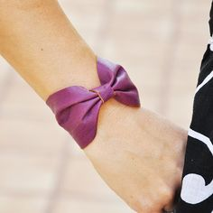 Plum Leather Bow Bracelet from StacysBowEnvy on Etsy. Saved to My Etsy Items. Bow Bracelet, Bracelets, Leather Bow, Style Me, Bows, Style Inspiration, Trending Outfits, Unique Jewelry, Womens Fashion