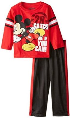 Amazon.com: Disney Boys' 2 Piece Mickey Catch Me if You Can Pant Set: Clothing