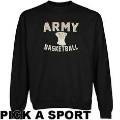 Army Black Knights Legacy Crew Neck Fleece Sweatshirt - Black