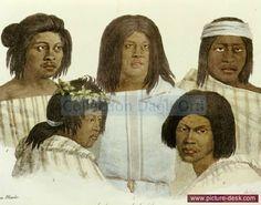 """Habitants de la Californie - """"Voyage pittoresque autour du monde"""" par Kotzebue - 1822 - dessin de Choris"""