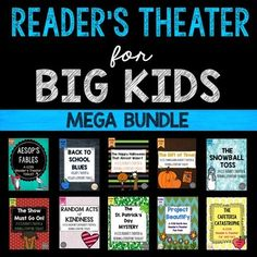 Reader's Theater for BIG KIDS!Cover your reading literature standards while engaging your students with these high-interest reader's theater scripts and reading literature toolkits.  Your students will LOVE the chance to perform while working on fluency, comprehension, context clues, and writing.