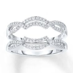 Diamond Enhancer Ring 1/3 ct tw Round-cut 14K White Gold