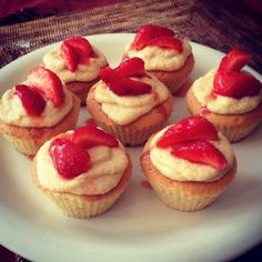 Homemade cupcake Fraise