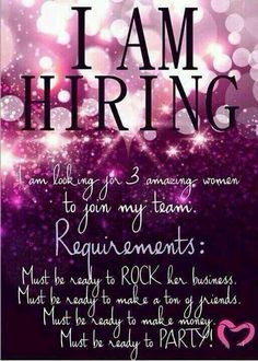 I'm hiring! Join my Younique team! Email me at youniquely.timna@gmail.com www.facebook.com/YouniquelyTimna or sign up at https://www.YouniquelyTimna.com