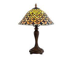 Lampada da tavolo stile Tiffany in vetro e metallo Classic - H 44 cm
