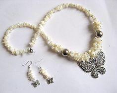 Fluturi sidef, set bijuterii sidef colier si cercei 23451 - idei cadouri femei Charmed, Bracelets, Jewelry, Fashion, Moda, Jewlery, Jewerly, Fashion Styles, Schmuck