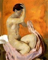 Fürdo után (After the bath) oil on canvas 58 x 46 cm