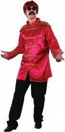 Mens Sixties Beatles Sergent Pepper Jacket Red – My Fancy Dress Elvis Costume, Costume Dress, 1960s Fancy Dress, 1960s Costumes, Hippie Shirt, Hippie Costume, Black Wig, Military Style Jackets, Hippie Dresses