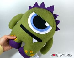 This Monster Toy/Pillow make great Christmas gift!  Check out my shop for more, I also do custom work if you have something special in mind or you want a monster in your favorite colours!   Plush Monster Toy, Monster Plush, Stuffed Monster, Stuffed Animal, Personalized Toy, Plushie, Baby Stuff, Cute Plush Toy, Baby Gift, Nursery