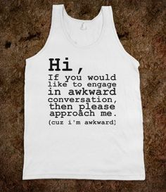 Awkward Conversation - The Spot - Skreened T-shirts, Organic Shirts, Hoodies, Kids Tees, Baby One-Pieces and Tote Bags