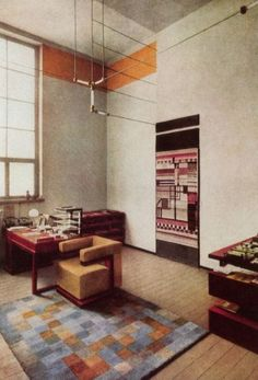 Walter Gropius' office at the Weimar Bauhaus, . Walter Gropius' office at the Weimar Bauhaus Bauhaus Interior, Modern Interior, Interior Design, Bauhaus Furniture, Design Interiors, Modern Furniture, Furniture Design, Design Bauhaus, Bauhaus Art