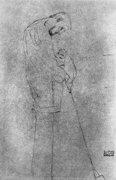 Zeichnung von Gustav Klimt · Zeichnung von Gustav Klimt … - Famous Last Words Gustav Klimt, Klimt Art, Art Nouveau, Franz Josef I, Vienna Secession, Ecole Art, William Morris, Vincent Van Gogh, Figurative Art