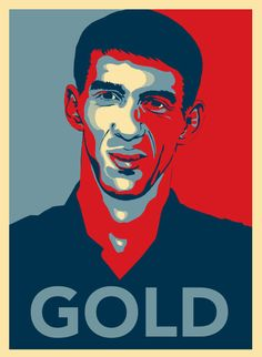 "Celebrity ""Hope"" Posters-Michael Phelps"