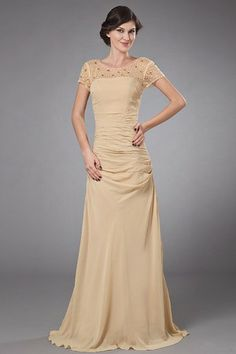 Fall Hourglass Spring Long Glamorous & Dramatic Beading Mother Of The Bride Dress