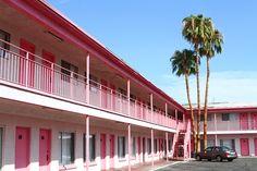The pink motel in Las Vegas.