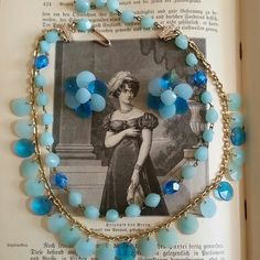 """Vintage Blue celluloid necklace & earrings set Vintage blue 2 tier celluloid necklace and clip earrings set. Marked Germany. Gold tone hardware. Excellent vintage condition.  17"""" long, adjustable to smaller. Earrings are 1"""" tall and wide. Reasonable offers accepted :) Vintage Jewelry Necklaces"""