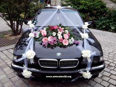 composition florale voiture mariage - Recherche Google  FLEUR DÉCO ...