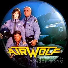 Retro Kids TV Badge/Magnet - Airwolf ~ www.powdermonki.co.uk ~