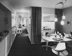 The Barbican Estate is one of the largest examples of the Brutalist style and represents a utopian ideal for inner-city living. Flat Interior, Apartment Interior, Modern Interior Design, Mid Century Decor, Mid Century House, City Living, Living Area, Flat Plan, 1970s Decor