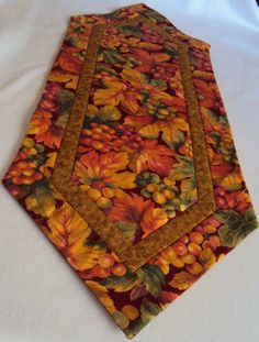 Fall Autumn Table Runner  Grape and Leaves  by QuiltsFabricandmore, $24.99
