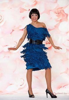 Natural Spin Signature Latin Dance Dresses:  LD05_BLUE