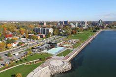 The Burlington waterfront.
