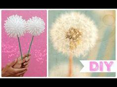 DIY: Flor Dente de Leão / Decoração Fácil