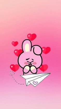 Bts Backgrounds, Cute Wallpaper Backgrounds, Love Wallpaper, Cute Cartoon Wallpapers, Jungkook Cute, Bts Bangtan Boy, Kaws Iphone Wallpaper, Phone Wallpapers, Line Friends
