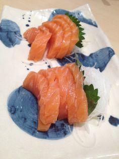 Salmon sashimi at Sushi Zanmai. I love.
