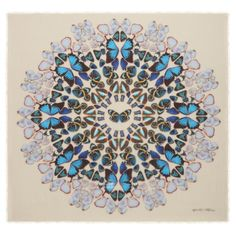 damien hirst mcqueen scarves2 New Collab: Damien Hirst & Alexander McQueen Launch Scarf Collection