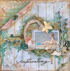 Seaside Cottage Papers from Blue Fern Studios . Gabrielle Pollacco: NEW Kit & Video. The Scrapbook Diaries}