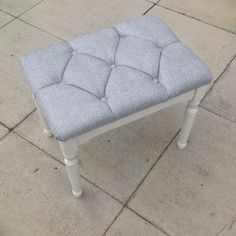 New lease of life for a dressing table stool #Warwick #silver