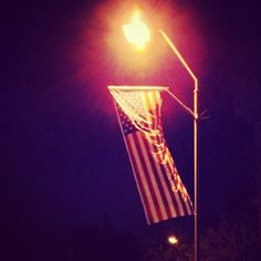 US flag in #Jerusalem for Obama's upcoming visit to Israel ( via #demotix publisher @Jessica Korman )