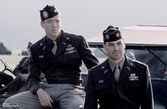 Band of Brothers - Winters and Nixon.portrayed by Damian Lewis and Ron Livingston