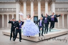 Quinceañera with Chambelanes, Madrigal Photography, Legion of Honor Museum, San Francisco