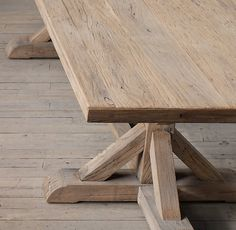this except slightly darker, or with this tone on some panels & other panels a few tones darker? Dinning Room Tables, Trestle Dining Tables, Farmhouse Table, Restoration Hardware, Cliff, Wood Working, Playroom, Ohio, Flooring