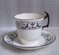 GRECIAN BORDER DEMITASSE CUP & SAUCER SPODE COPELAND CHINA ENGLAND circa 1917! in Pottery & Glass, Pottery & China, China & Dinnerware, Spode, Porcelain | eBay