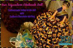 Sweet Indian Bride Doll.. Bride Dolls, Indian, Chocolate, Sweet, Handmade, Hand Made, Schokolade, Craft, Chocolates