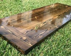 Rustic Reclaimed Wood Desk Home Bar Coffee End Night Table Top Reclaimed Wood Desk, Rustic Wood, Diy Bench, Bench Set, Ac2, Urban Rustic, Sit Stand Desk, Thing 1, Rustic Shabby Chic