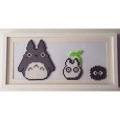 Totoro perler beads by lilsobz