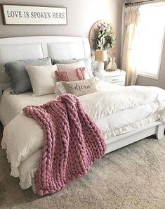 Master bedroom design Merino Wool Blanket