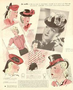 Le Petit Echo de la Mode, 1940 By: Dollface & Dapper Vintage Clothes on eBay and Etsy