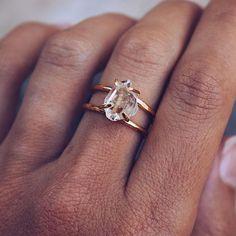 Raw Stone Engagement Rings, Boho Engagement Ring, Alternative Engagement Rings, Unconventional Engagement Rings, Uncut Diamond Engagement Ring, Minimalistic Engagement Ring, Organic Engagement Rings, Quartz Engagement Ring, Handmade Engagement Rings