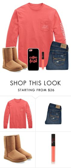 """""""Preppy Lovin"""" by theblonde07 ❤ liked on Polyvore featuring Vineyard Vines, Abercrombie & Fitch, UGG Australia, NARS Cosmetics, Casetify, women's clothing, women's fashion, women, female and woman"""