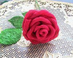 Delicadezas en crochet Gabriela: Rose crochet.