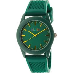 Crayo Storm Strap Watch - Green - Women's Watches ($49) ❤ liked on Polyvore featuring jewelry, watches, green, quartz movement watches, green watches, silicone strap watches, crayo watches and water resistant watches