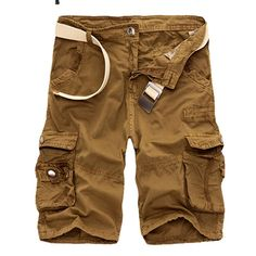 Work Shorts, Loose Shorts, Casual Shorts, Men Shorts, Camouflage Shorts, Army Camouflage, Mens Cargo, Cargo Pants Men, Work Casual