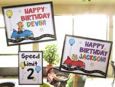 birthday boy, car party, car clip art, birthday boys signs, speed limit 2, happy birthday boy, cute cars